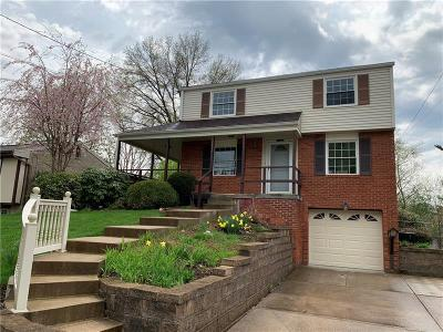 Bethel Park Single Family Home Active Under Contract: 2837 W Munroe St