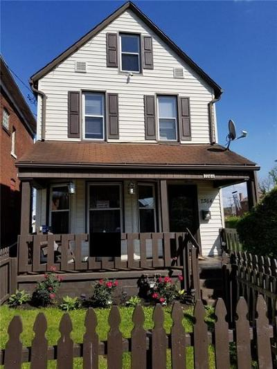 Swissvale Single Family Home For Sale: 7364 Schley Ave