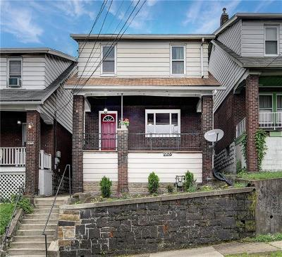 Swissvale Single Family Home Active Under Contract: 2215 Hawthorne Ave