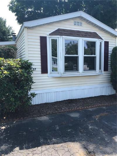 Coventry Single Family Home For Sale: 27 Lear Dr