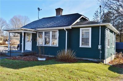 Hopkinton RI Single Family Home For Sale: $165,000