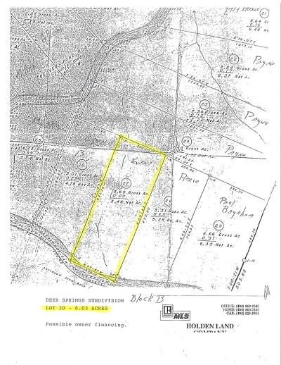 North Augusta Residential Lots & Land For Sale: 00 Deer Springs Rd