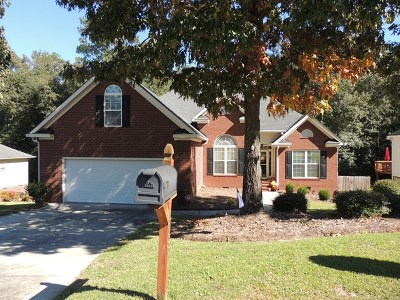 North Augusta Single Family Home For Sale: 5038 Fieldcrest Drive