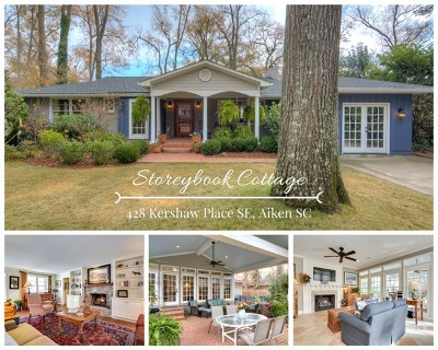Aiken County Single Family Home For Sale: 428 Kershaw Place SE