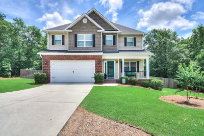 North Augusta Single Family Home For Sale: 3042 Lake Norman Dr.