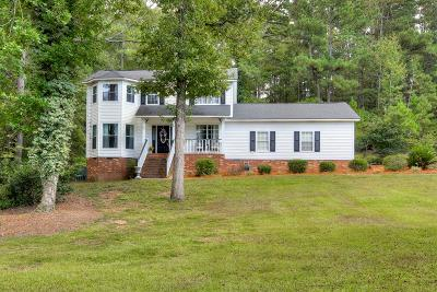 North Augusta Single Family Home For Sale: 109 Spring Lake Ct