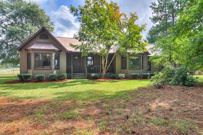 Aiken Single Family Home For Sale: 295 Fox Pond Road