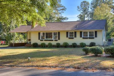 Aiken Single Family Home For Sale: 1013 Hitchcock Drive