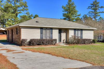 North Augusta Single Family Home For Sale: 340 Blanchard Road