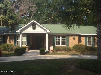 Beaufort, Beaufort Sc, Beaufot Single Family Home For Sale: 22 Stuart Town Court