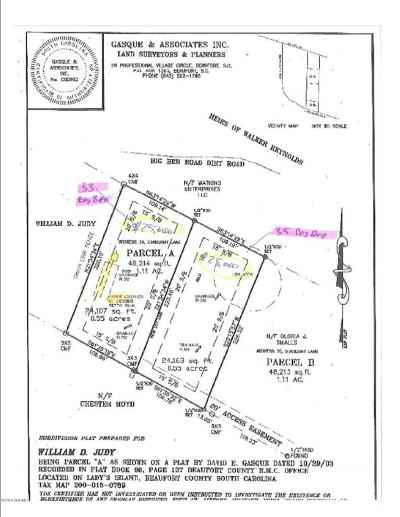 Beaufort, Beaufort Sc, Beaufot, Beufort Residential Lots & Land For Sale: 35 Big Ben Lane