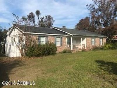 Beaufort County Single Family Home For Sale: 195 Squire Pope Road
