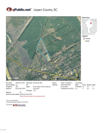 Yemassee Residential Lots & Land For Sale: 281 Buckfield Road