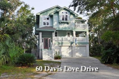 Fripp Island Single Family Home For Sale: 60 Davis Love Drive