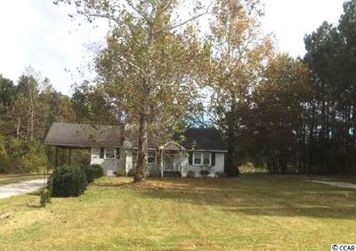Loris Single Family Home Active-Pending Sale - Cash Ter: 4725 Red Bluff Rd