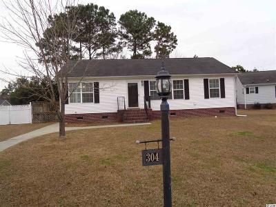 Murrells Inlet Single Family Home For Sale: 304 Stone Throw Drive Drive