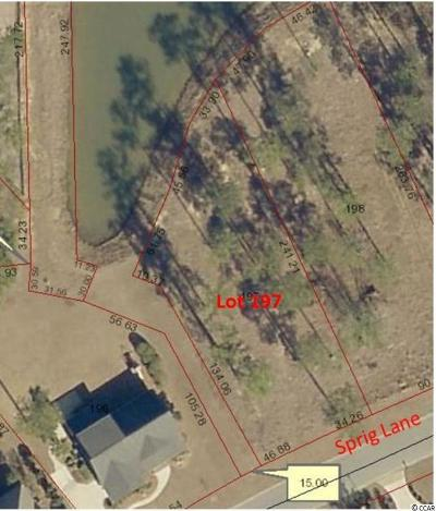 Georgetown County, Horry County Residential Lots & Land For Sale: Lot 197 Sprig Ln.