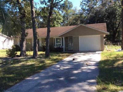 Georgetown Single Family Home For Sale: 2709 Old Charleston Rd.