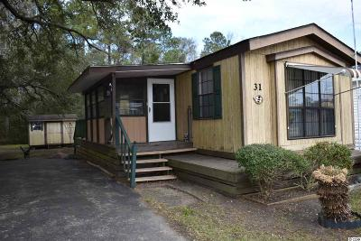 Murrells Inlet Single Family Home For Sale: 31 Burr Circle