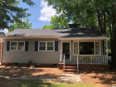 Florence SC Single Family Home Active Under Contract: $89,900