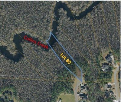 Georgetown County, Horry County Residential Lots & Land For Sale: Lot 80 Woody Point Dr.