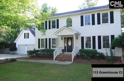Lexington County, Richland County Single Family Home For Sale: 113 Greenhouse