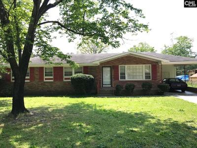 Columbia SC Single Family Home For Sale: $81,000