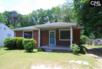 Columbia SC Single Family Home For Sale: $74,900