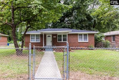 Columbia SC Single Family Home For Sale: $66,900