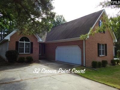 Irmo Single Family Home For Sale: 32 Crown Point