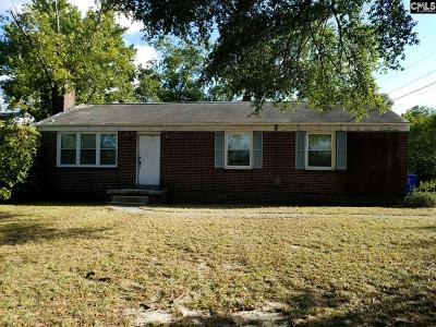 Columbia SC Single Family Home For Sale: $44,900