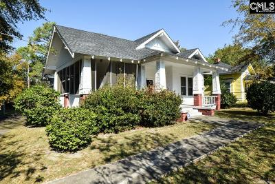 Columbia SC Single Family Home For Sale: $62,000