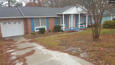 Columbia SC Single Family Home For Sale: $87,500