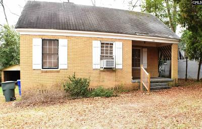 Columbia SC Single Family Home For Sale: $60,000