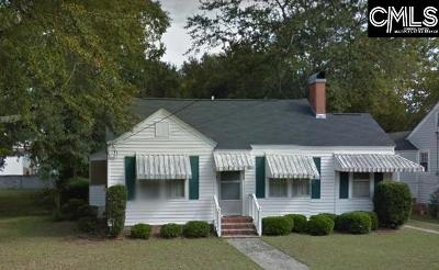 Sumter SC Single Family Home For Sale: $39,500