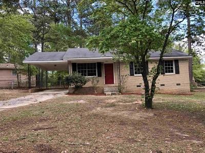 Columbia SC Single Family Home For Sale: $65,000