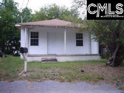 Columbia SC Single Family Home For Sale: $30,000