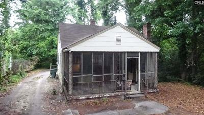 Columbia SC Single Family Home For Sale: $17,500