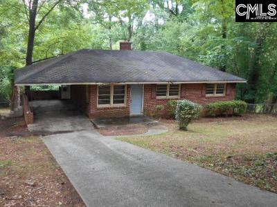 Columbia SC Single Family Home For Sale: $34,900