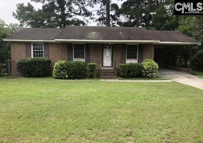 Columbia SC Single Family Home For Sale: $39,900