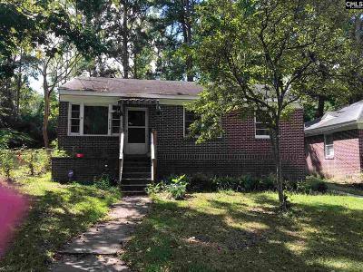 Columbia SC Single Family Home For Sale: $38,000