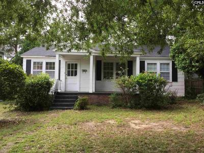 Columbia SC Single Family Home For Sale: $149,500