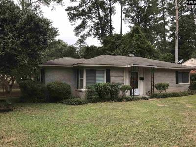 Columbia SC Single Family Home For Sale: $119,500