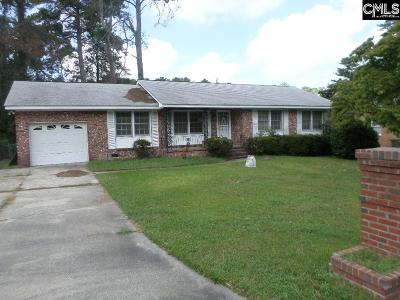 Columbia SC Single Family Home For Sale: $35,000
