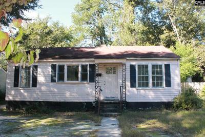 Columbia Single Family Home For Sale: 409 Hemphill St