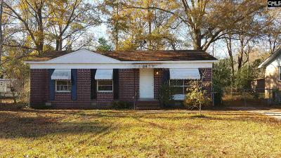Columbia SC Single Family Home For Sale: $39,000
