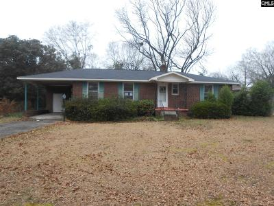 Columbia SC Single Family Home For Sale: $63,000