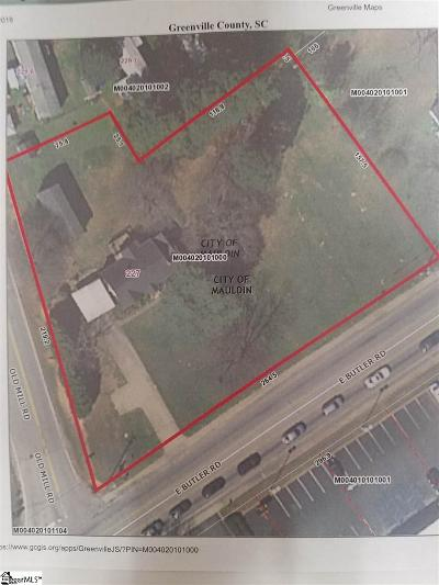 Mauldin Residential Lots & Land For Sale: 227 E Butler