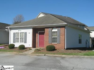 Greenville County Condo/Townhouse For Sale: 73 Huntress