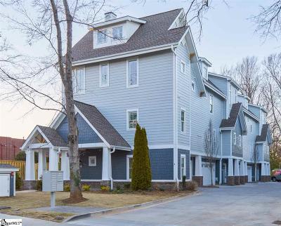 Greenville County Condo/Townhouse For Sale: 15 Cureton #Unit F